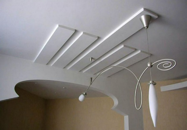 Потолок из гипсокартона своими руками картинки