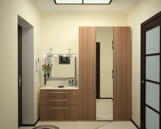 Дизайн небольшой прихожей в панельном доме